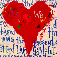 Acrylic painting journey.together by Jeffrey Newman