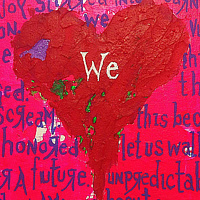 Acrylic painting magnetic.we. by Jeffrey Newman