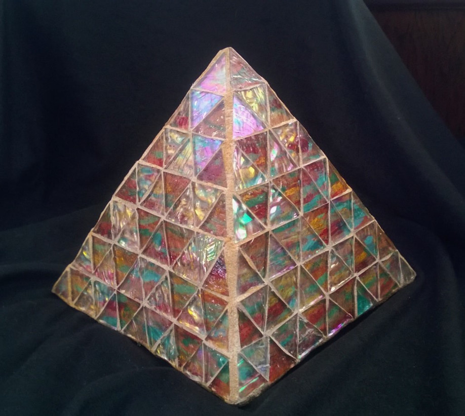 Painting Concrete and glass mosaic pyramid by Karen Spears