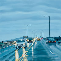 Oil painting Ross Island Bridge no. 2 by Shawn Demarest