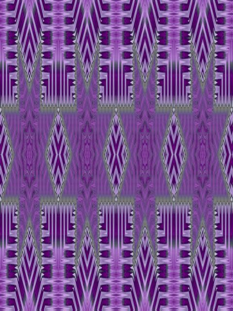 Purple Petal Lines by Elaine Lauzon