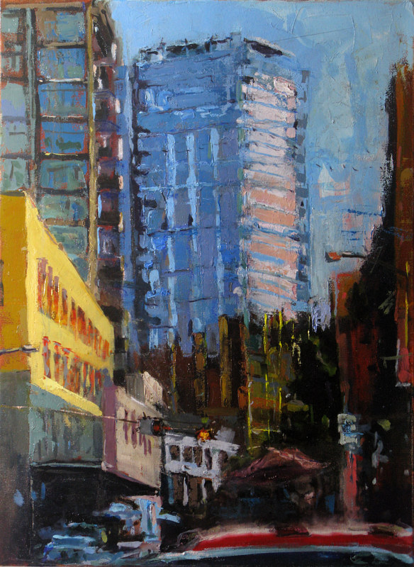 Oil painting Twelve West Building - SOLD by William Sharp