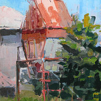Oil painting Abandoned Hopper  by William Sharp