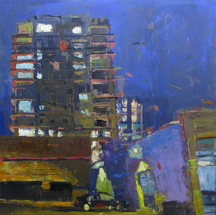 Oil painting NW Ninth Ave Streetscape  by William Sharp