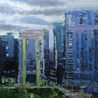 Oil painting South Waterfront - SOLD by William Sharp