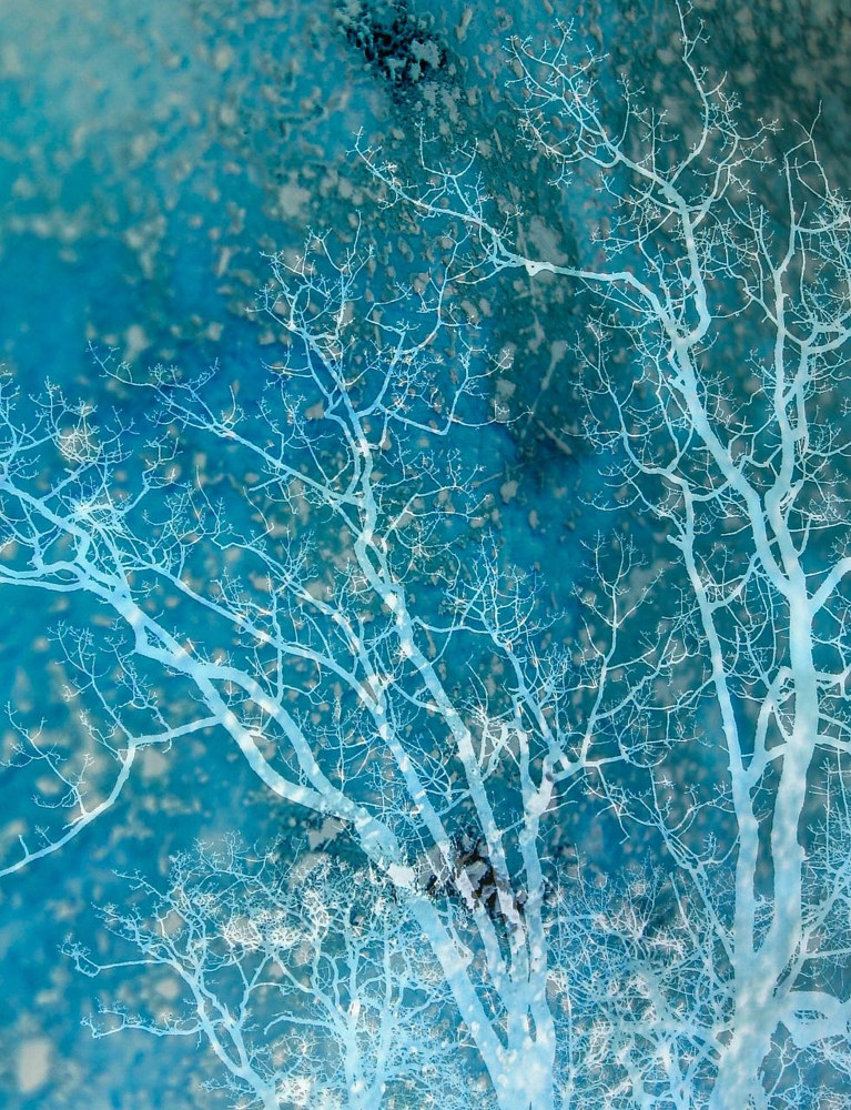 Blue Arbre by Elaine Lauzon