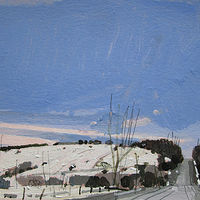 Acrylic painting First Thaw by Harry Stooshinoff