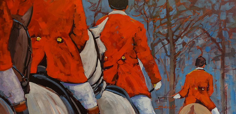 Trot On   Acrylic 18x36 2017 by Brian  Buckrell