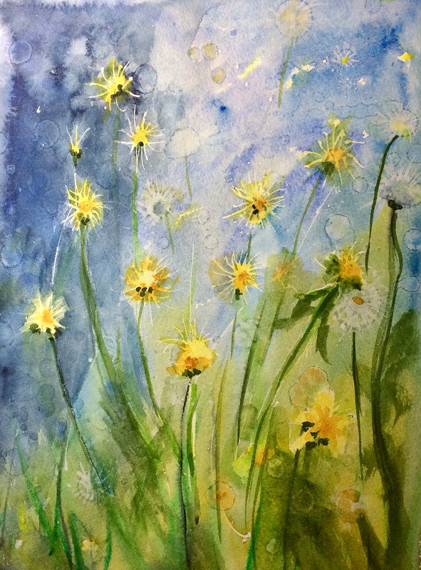 Watercolor Becoming Wishes by Karen Brodeur