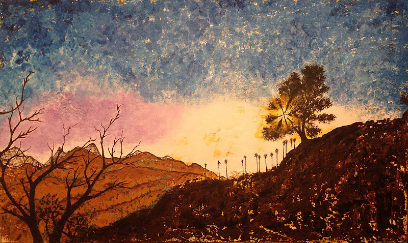 Mixed-media artwork california canyon by Jeffrey Newman