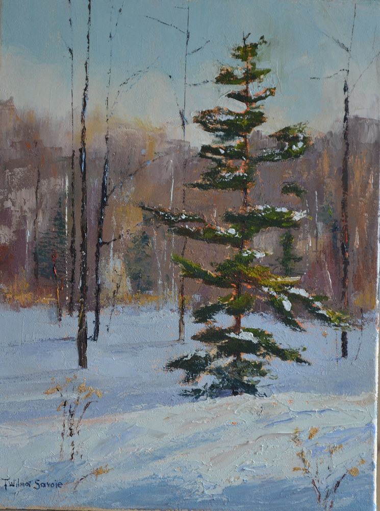 Winter Waltz; oil; 16 x 12, 23-1113 by Patricia Savoie