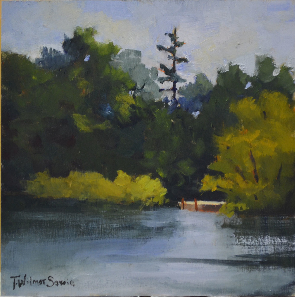 On a Hot Summers Day, 8 x 8; 27-0714 by Patricia Savoie