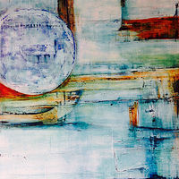 Acrylic painting Mondago Moon by Timothy J Sullivan