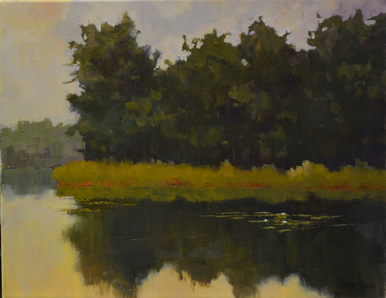 Evening Calm - oil on canvas 14 x 18  29-0613 by Patricia Savoie