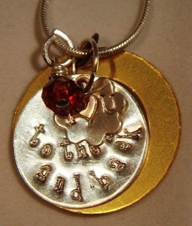 "Stamped Pendant(s) ""I Love U To The Moon And Back""  IMG_5788 by Renee Hennessy"