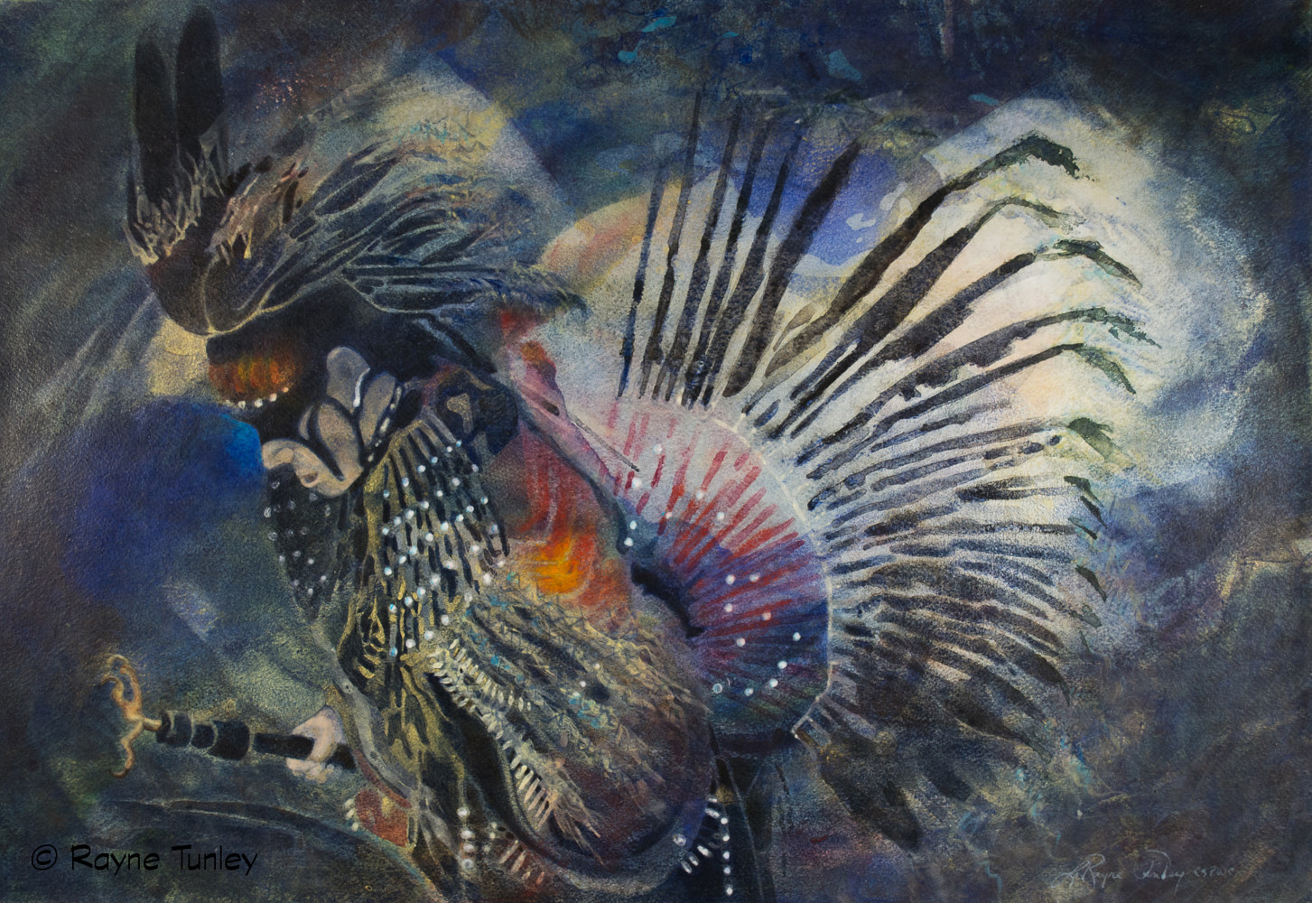 "Rayne Tunley, ""Singing Dancing Bird"", 18in x 26in, Watercolour by Rayne Tunley"