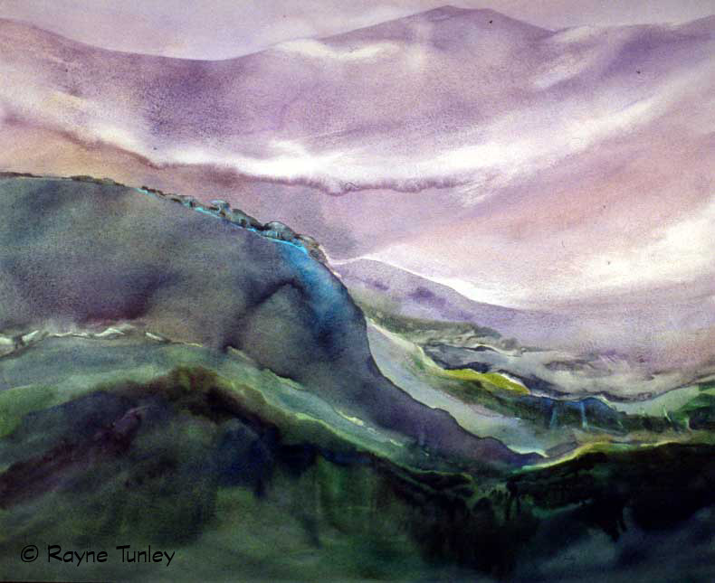 "Rayne Tunley, ""A Delphic Gaia"", 36in x 48in, Watercolour by Rayne Tunley"