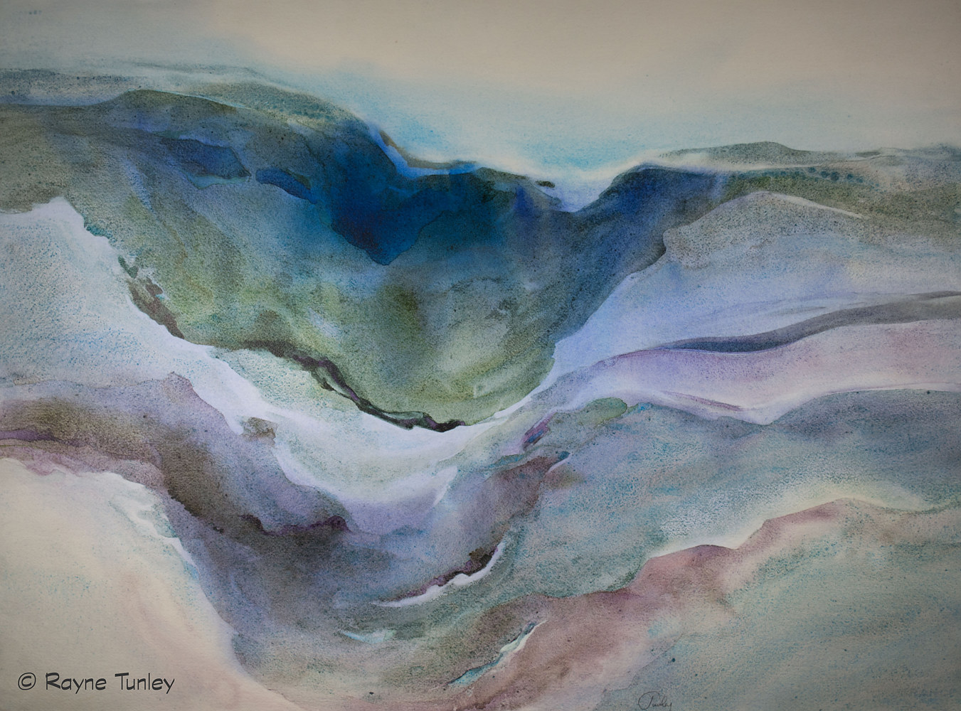 "Rayne Tunley, ""Undercurrent"", 22in x 30in Watercolour by Rayne Tunley"