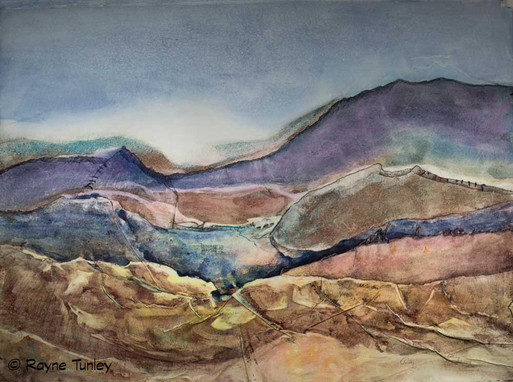 "Rayne Tunley, ""Carved in Layers"", 22in x 30in, Watercolour by Rayne Tunley"