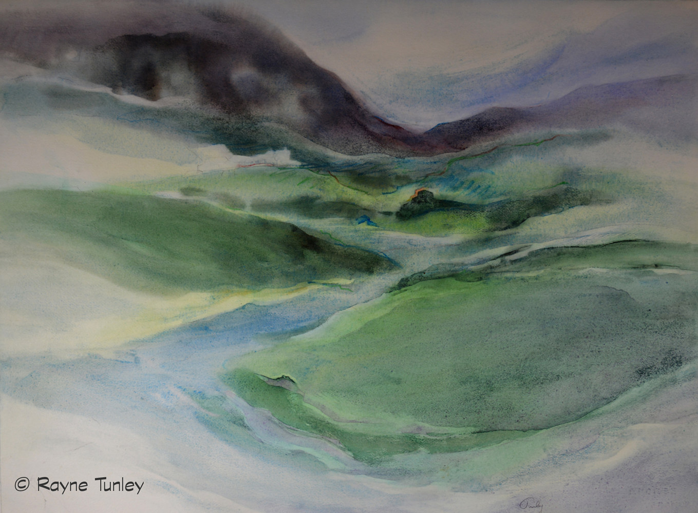 "Rayne Tunley, ""In The Valley"", 22in x 30in, Watercolour by Rayne Tunley"