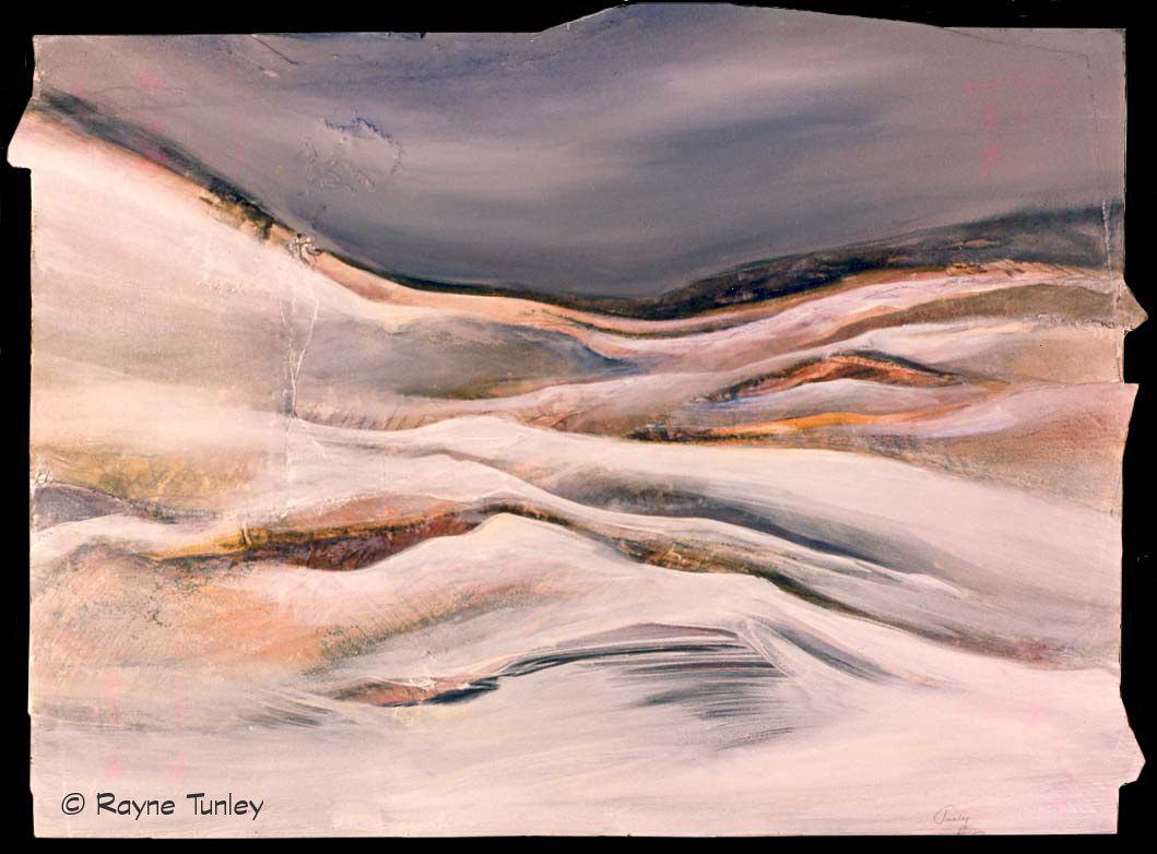 "Rayne Tunley, ""Winter"", 22in x 30in, mixed media by Rayne Tunley"
