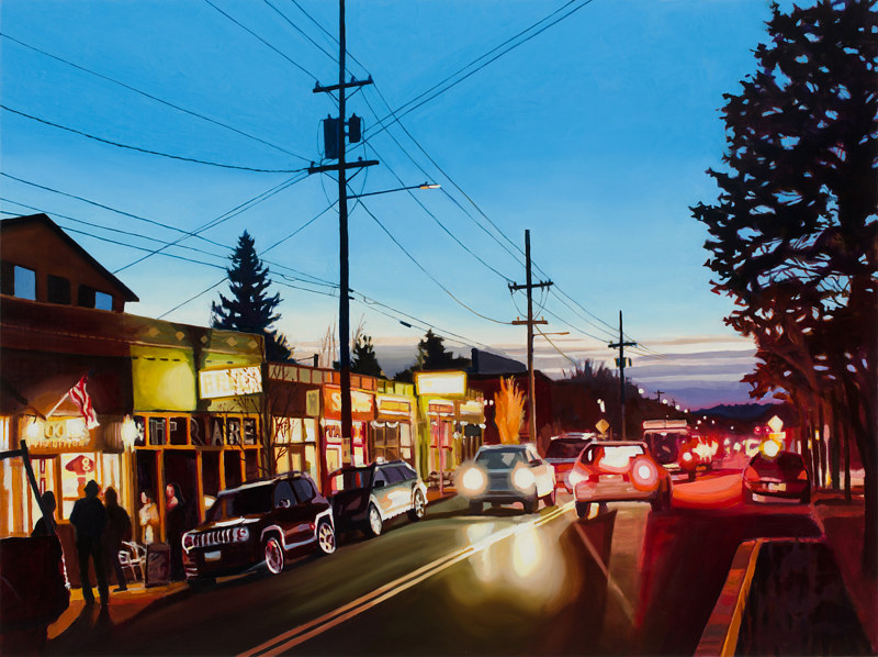 Oil painting SE Division Evening by Shawn Demarest