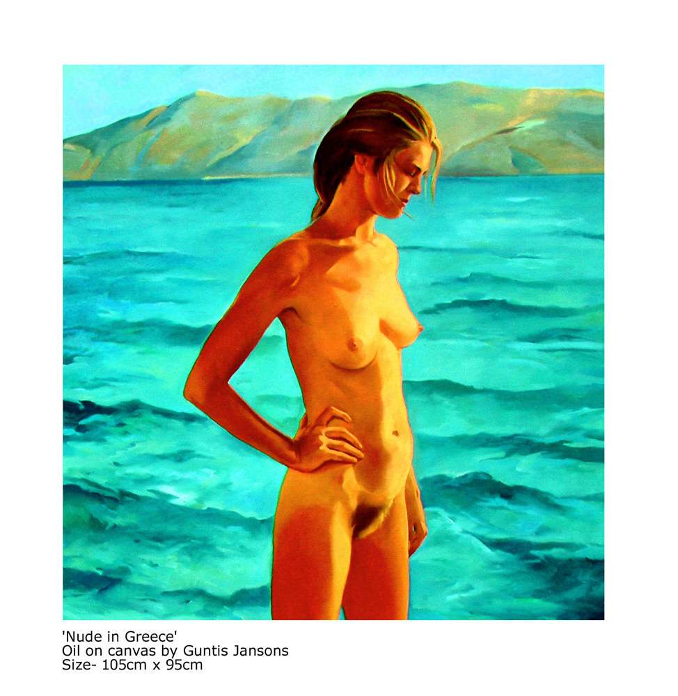 Oil painting Nude in Greece  by Guntis Jansons