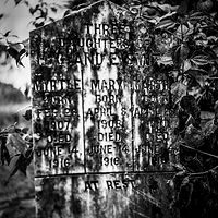 Georgiana Cemetery-2 (PL03_4101BW) by Gary Jones