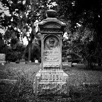 Georgiana Cemetery-3 (PL03_4102BW) by Gary Jones
