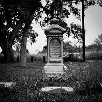 Georgiana Cemetery-6 (PL03_4105BW) by Gary Jones