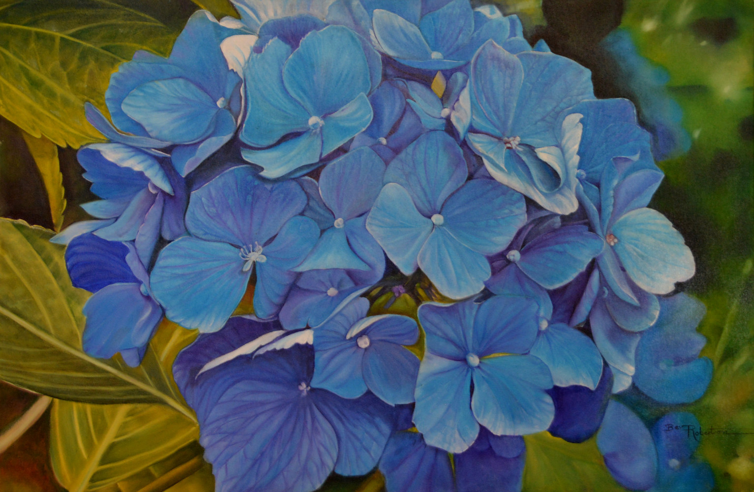 Oil painting Shades of Blue by Bev Robertson
