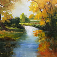 Oil painting 12x16 Fall Co  lors2 by Barbara Haviland