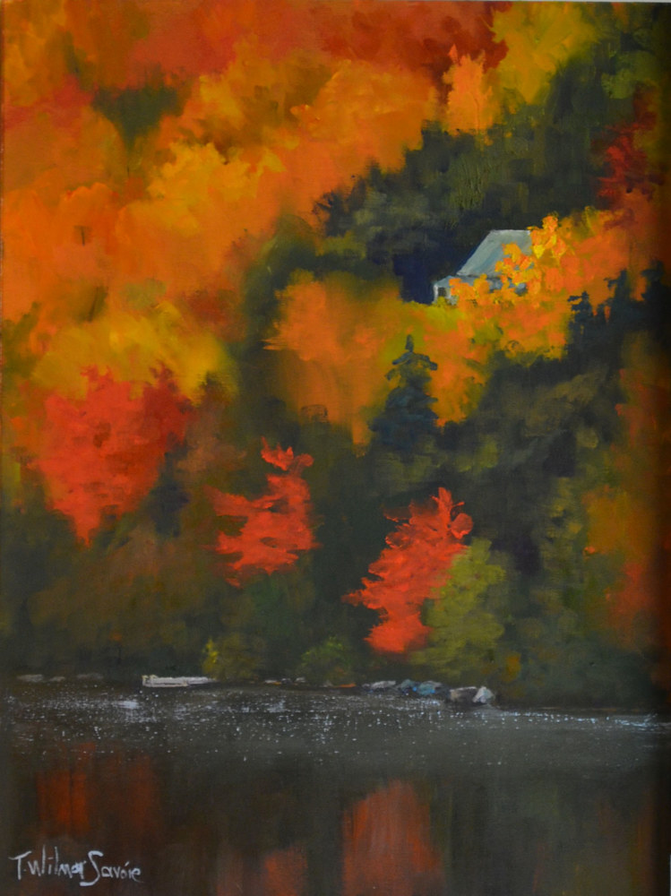 At the Cottage, Thanksgiving    16 x 12     23-1016 by Patricia Savoie