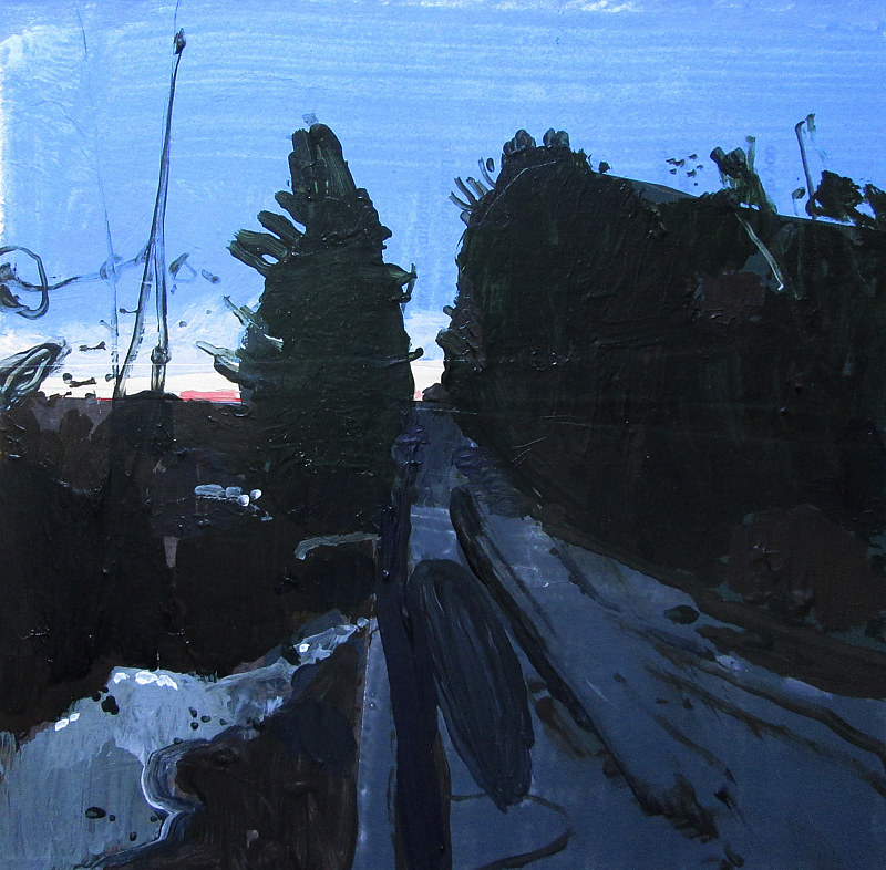 Acrylic painting Sundown, Cedar Valley by Harry Stooshinoff