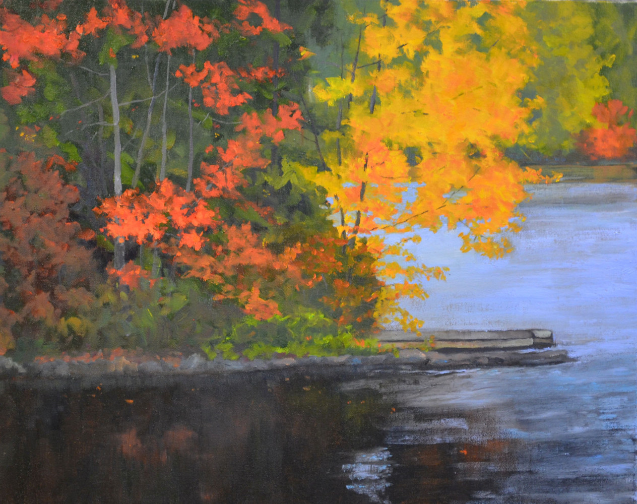 When October Comes 16 x 20, oil on gallery canvas, 32-1016 by Patricia Savoie