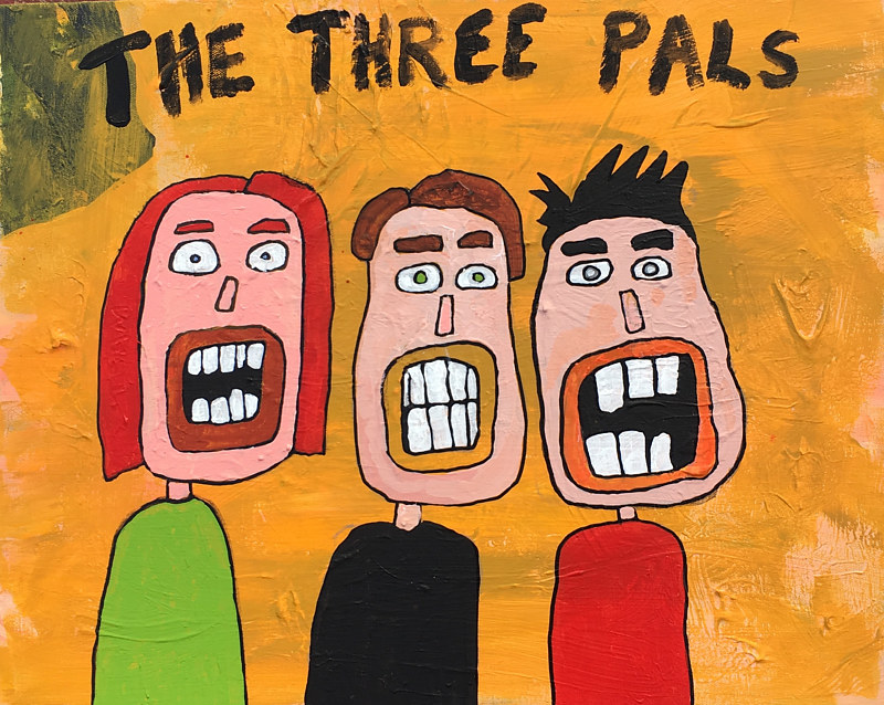Acrylic painting The Three Pals by Bernard Scanlan
