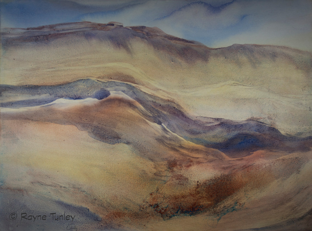 "Oil painting Rayne Tunley, ""Shifting Sand"", 22 in x 30 in, watercolour by Rayne Tunley"