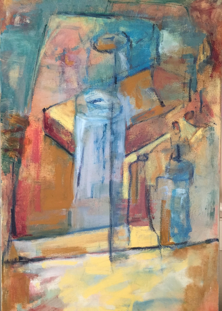 Oil painting In the studio, 2 by Karen Rovner