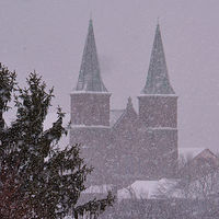 snowy steeples by Lisa Kane