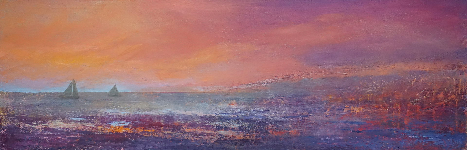 Oil painting A Blazing Sunset/SOLD by Nella Lush