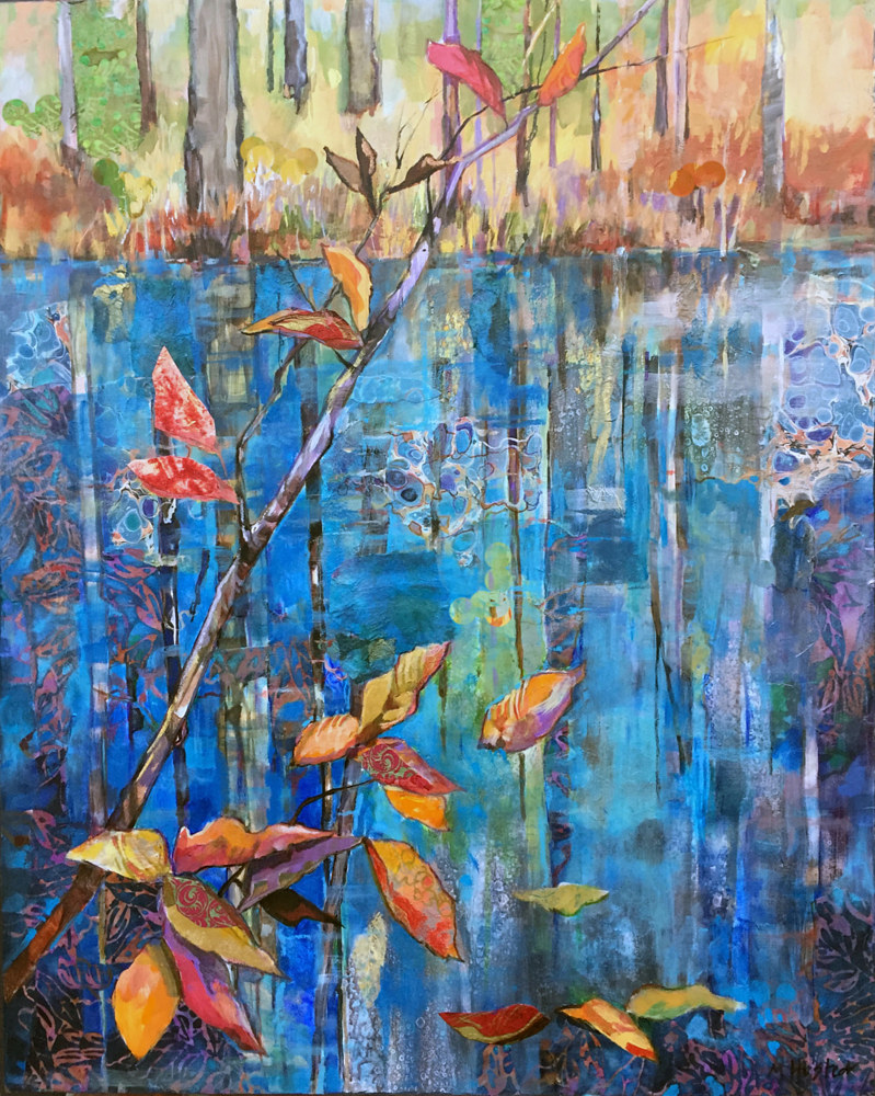 Acrylic painting Water's Edge by Marty Husted