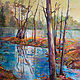 Acrylic painting Reflecting On by Marty Husted