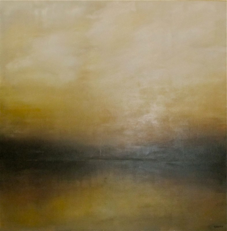 Acrylic painting Atmospheric 5 by BJ Keith