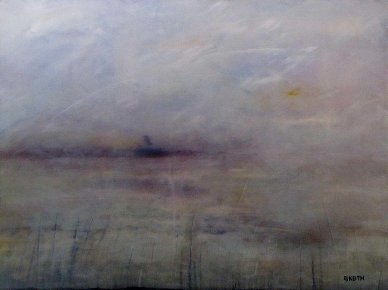 Acrylic painting Atmospheric 4 by BJ Keith