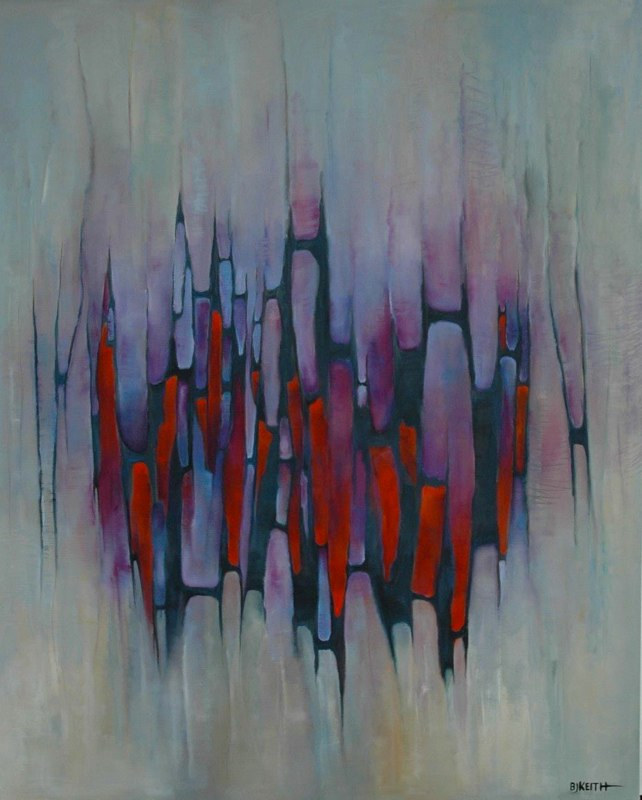 Oil painting Pulses 5 by BJ Keith