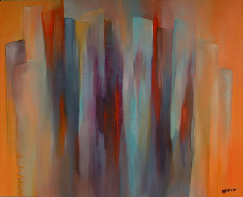Oil painting Pulses 1 by BJ Keith
