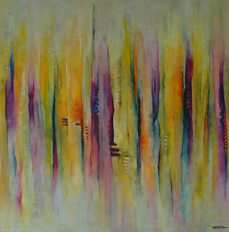 Oil painting Pulses 8 by BJ Keith