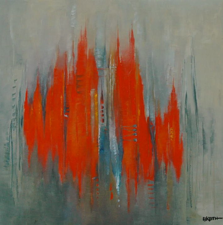 Oil painting Pulses 10 by BJ Keith