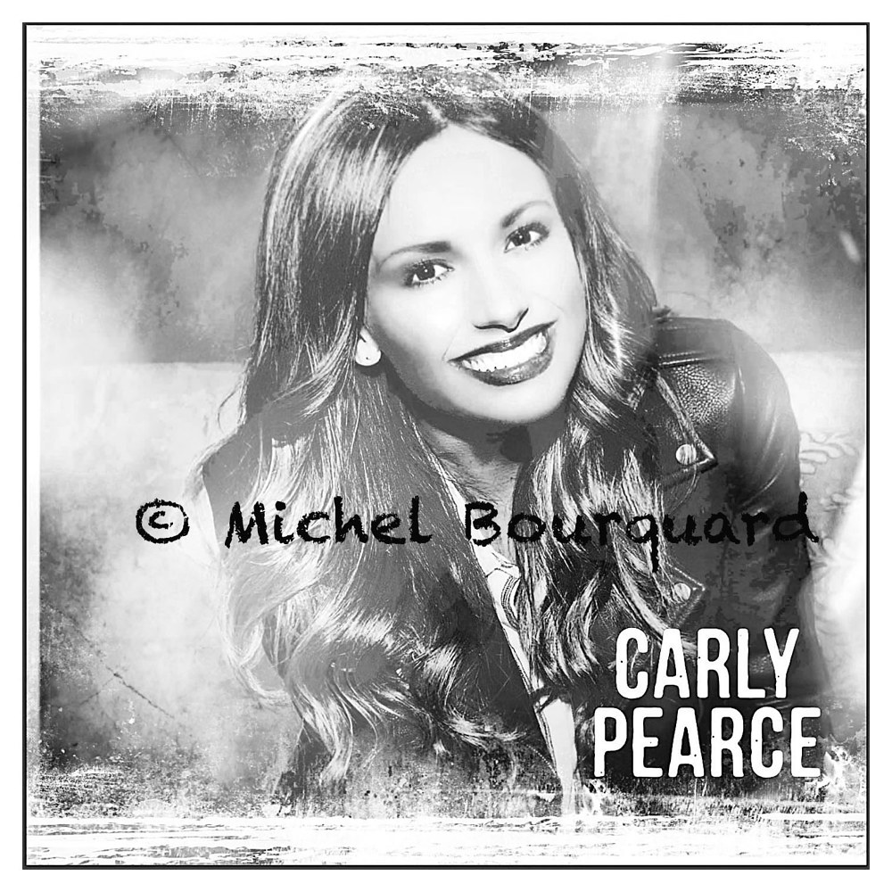 Carly Pearce - BW  002 by Michel Bourquard