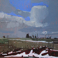 Acrylic painting Ditch, March 9 by Harry Stooshinoff